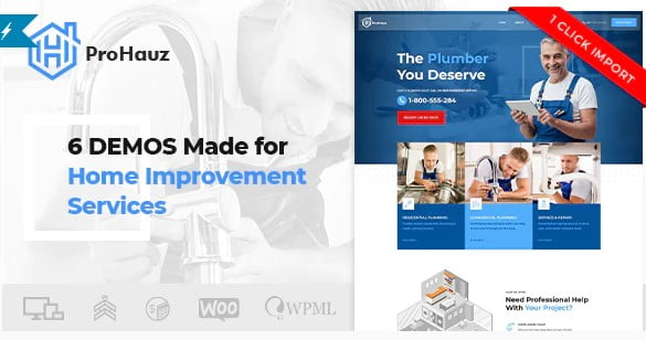 ProHauz - 36+ Awesome Plumbers WordPress Themes [year]