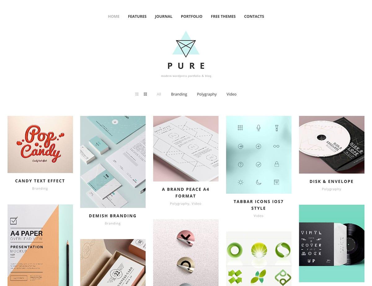 Pure - 46+ Nice Free WordPress Portfolio Themes [year]