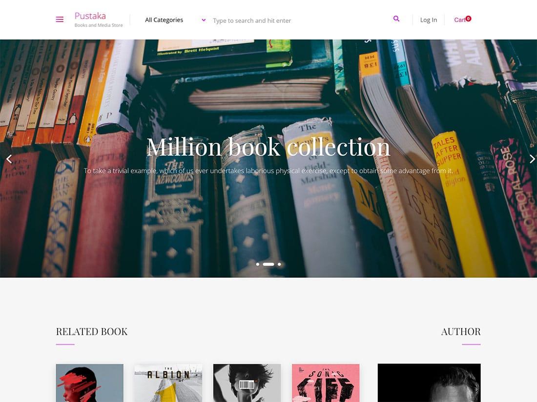 Pustaka-1 - 36+ Nice Bookstore WordPress Themes [year]