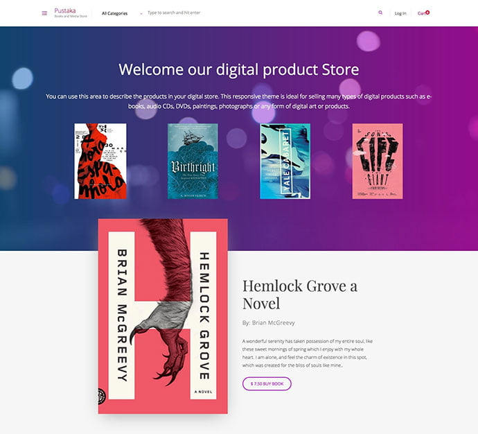 Pustaka - 31+ Nice Librarian & Bookseller WordPress Themes [year]