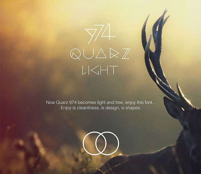 Quarz-974 - 31+ Amazing Free Double & Multi Line Fonts For Developer [year]