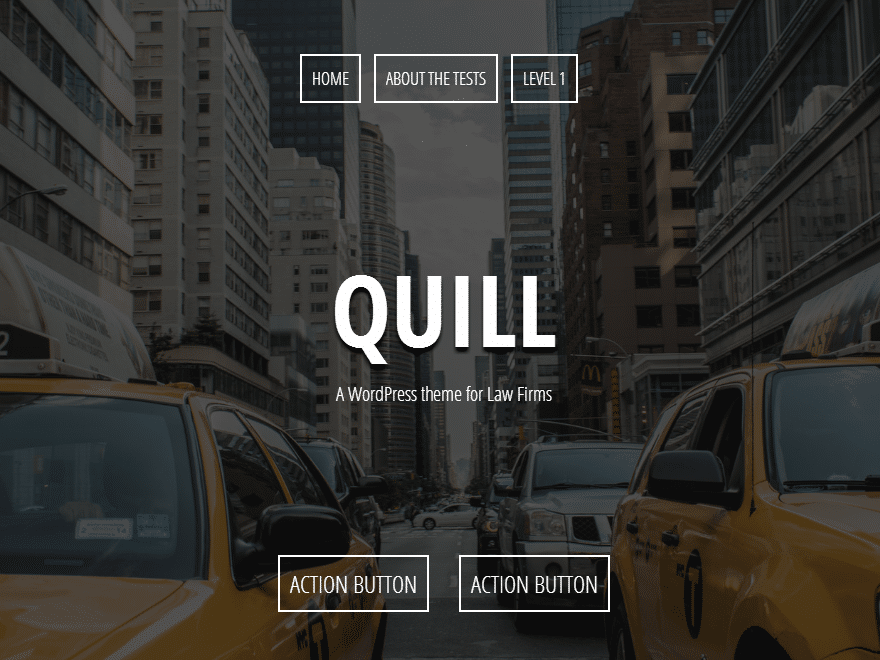Quill - 46+ Best Free WordPress One Page Themes [year]