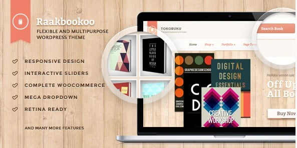 Raakbookoo - 36+ Nice Bookstore WordPress Themes [year]