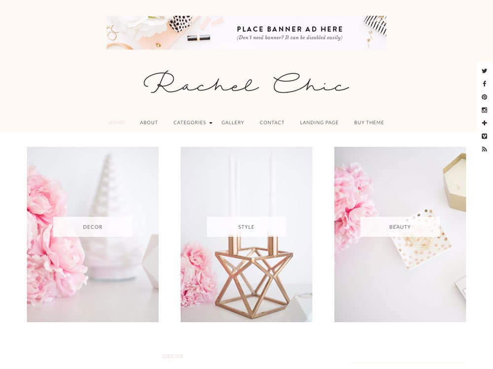 Rachel - 36+ Nice WordPress Themes For Fashion Blog [year]