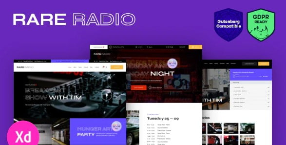 Rare-Radio-1 - 36+ Awesome WordPress Themes For Podcast [year]