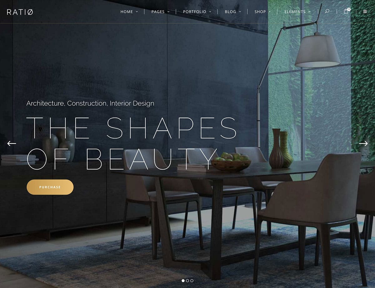Ratio - 30+ Top Quality WordPress Themes For Interior Design [year]