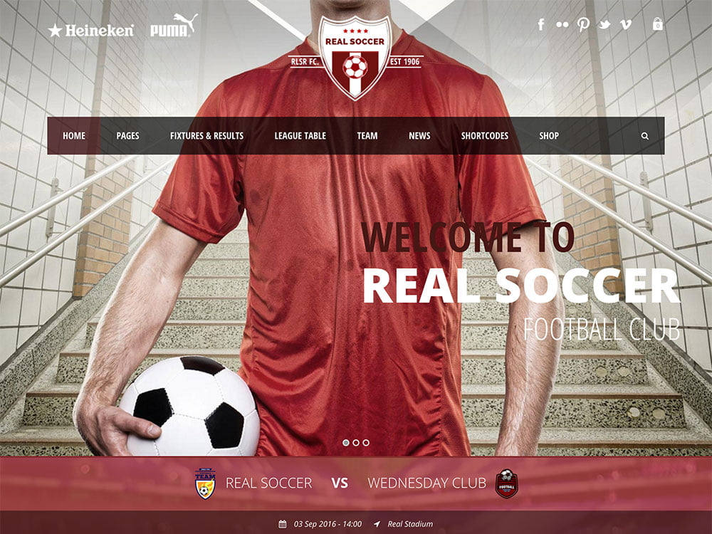 Real-Soccer - 31+ Nice WordPress Themes For Sports [year]