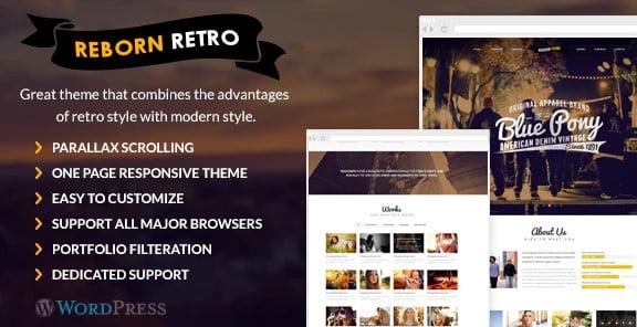 Reborn-Retro - 36+ Best Quality Retro WordPress Themes [year]