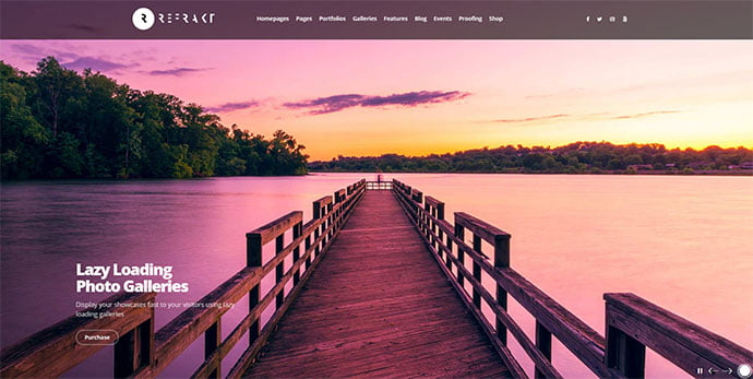 Refrakt - 31+ Nice WordPress Themes For Dark Photography Portfolio [year]