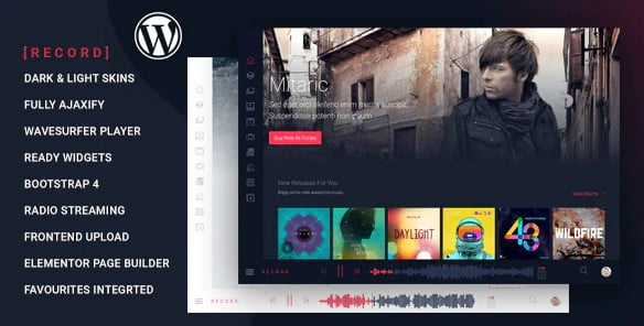 Rekord - 36+ Awesome WordPress Themes For Podcast [year]
