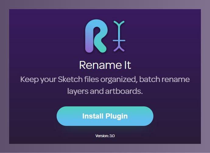 Rename-It - 61+ Free Useful Sketch Plugins & Add Ons [year]
