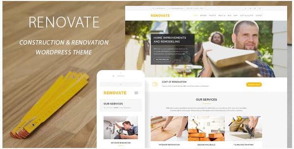Renovate - 36+ Awesome Plumbers WordPress Themes [year]