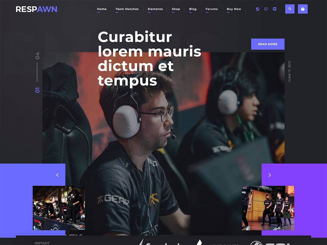 Respawn - 35+ Awesome WordPress Themes For Gaming [year]