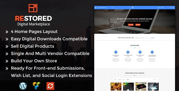 Restored-MarketPlace - 36+ Awesome WordPress Digital Products Selling Themes [year]