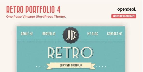 Retro-Portfolio - 36+ Best Quality Retro WordPress Themes [year]