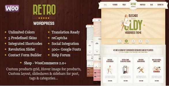 Retro - 36+ Best Quality Retro WordPress Themes [year]
