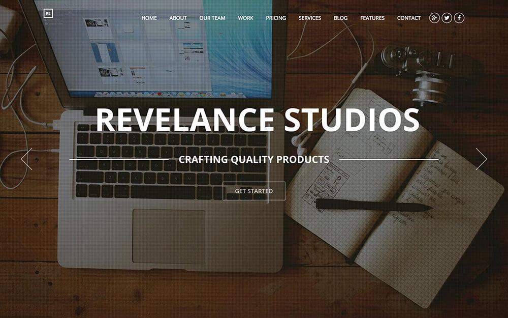 Revelance - 41+ Amazing WordPress Parallax Themes For You [year]