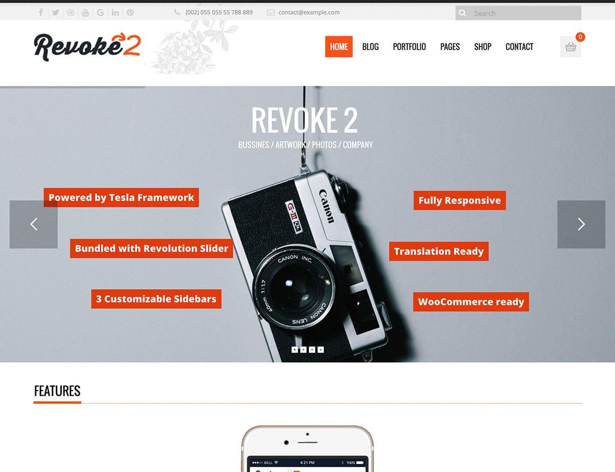 Revoke2 - 35+ Nice WordPress Themes For Multipurpose [year]