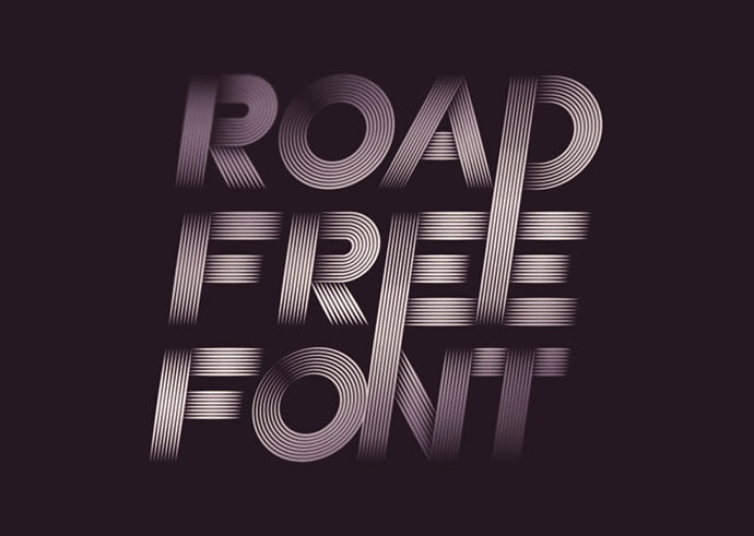 Road - 31+ Amazing Free Double & Multi Line Fonts For Developer [year]