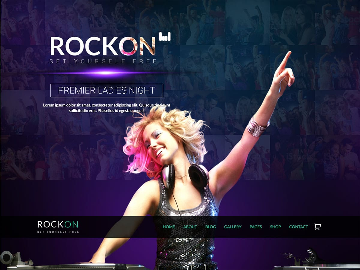 RockOn - 35+ Nice WordPress Themes For Nightclub [year]