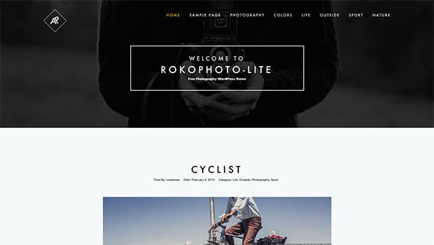 RokoPhoto-Lite - 51+ Nice Free WordPress Themes For Photography [year]