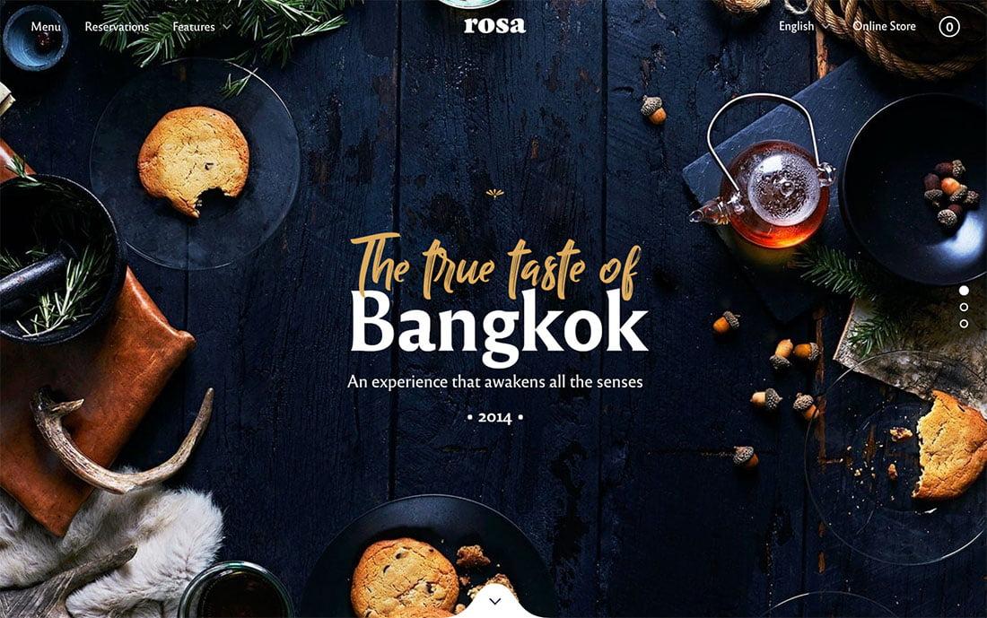 Rosa-2 - 50+ Nice WordPress Themes For Restaurant [year]