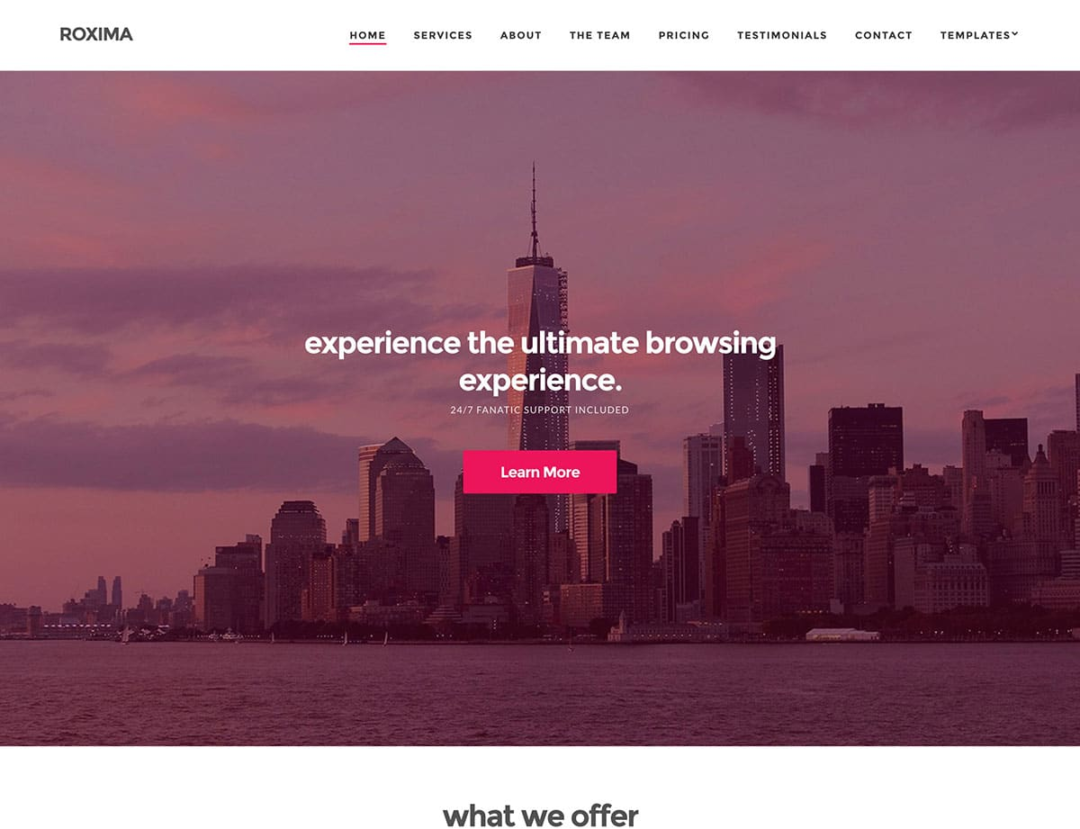 Roxima-1 - 60+ Nice WordPress Themes For Business [year]
