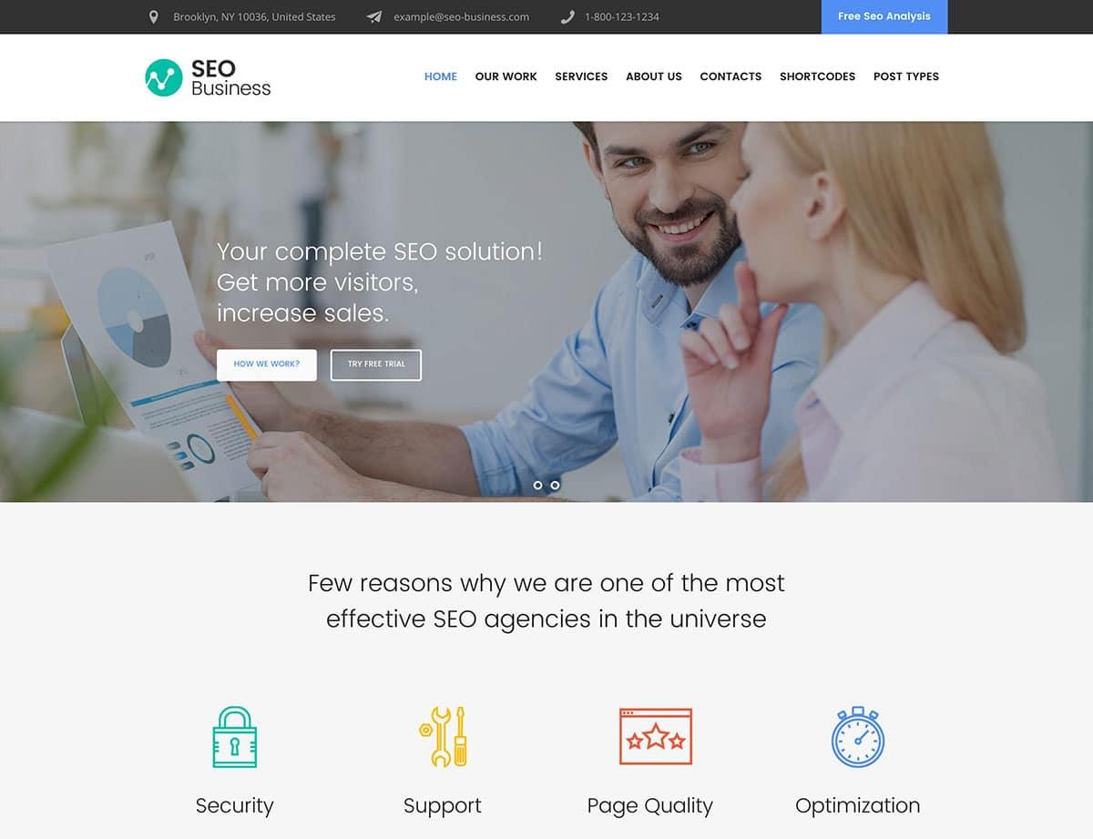 SEO-Business - 36+ Awesome WordPress Marketing Themes [year]