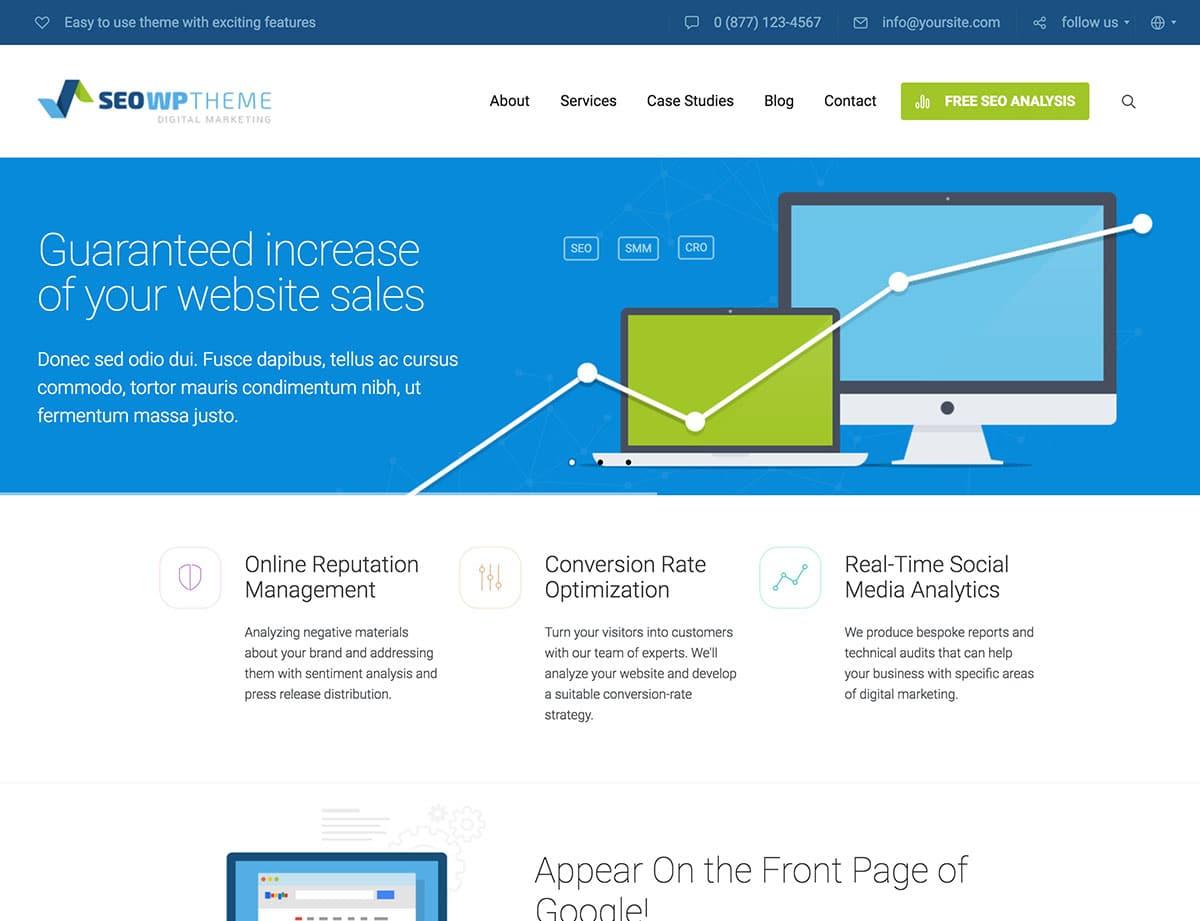 SEO-WP - 36+ Awesome WordPress Marketing Themes [year]