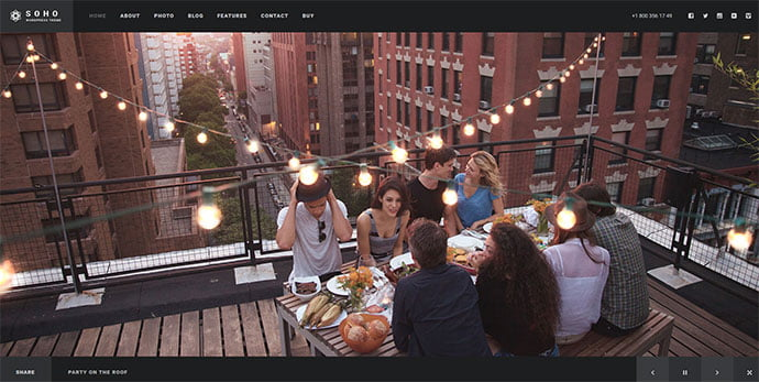 SOHO - 31+ Nice WordPress Themes For Dark Photography Portfolio [year]