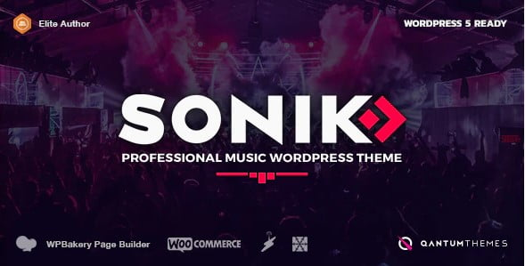 SONIK - 36+ Awesome WordPress Themes For Podcast [year]