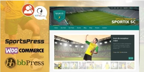 SPORTIX - 36+ Nice WordPress Golf Themes For Golf Clubs Websites [year]