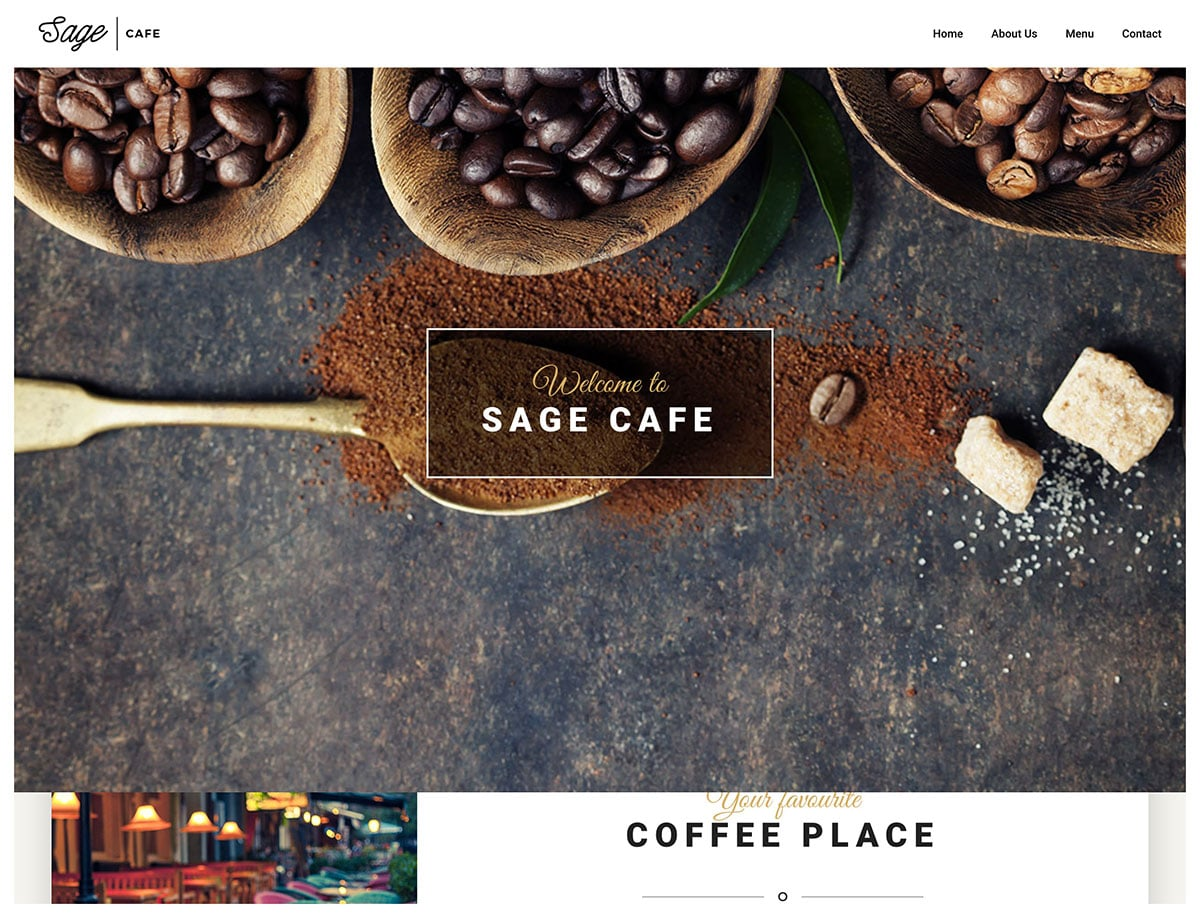 Sage - 36+ Top Quality WordPress Themes For Coffee Shop [year]