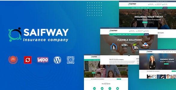 Saifway - 36+ Amazing WordPress Insurance Themes [year]