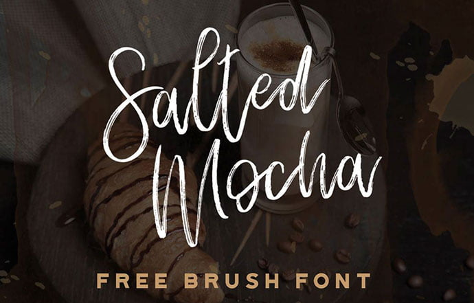 Salted-Mocha - 51+ Free Fonts For Calligraphy & Hand Lettering [year]
