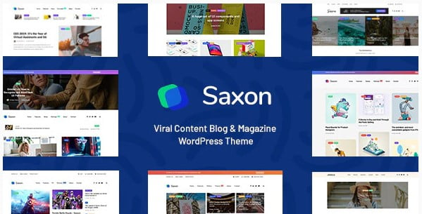 Saxon - 30+ Top Quality WordPress Themes For Viral [year]