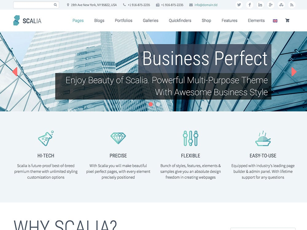 Scalia - 36+ Top Quality WordPress Themes For Business [year]