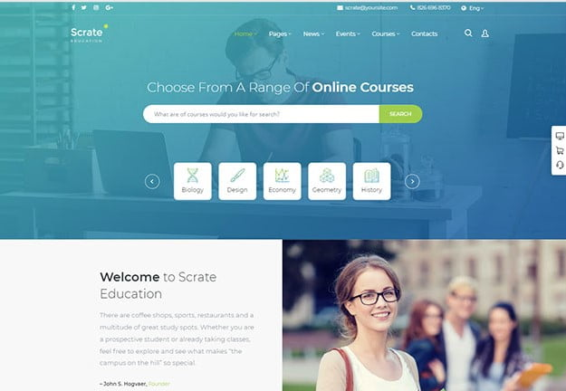 Scrate - 36+ Awesome WordPress Themes e-Learning [year]