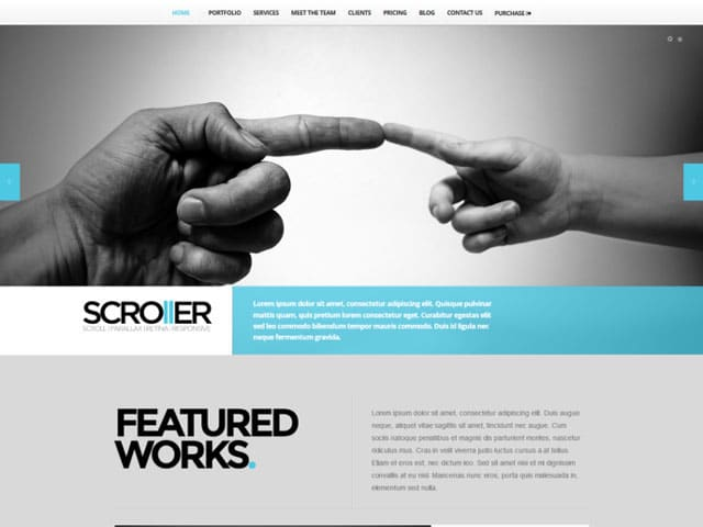 Scroller - 41+ Amazing WordPress Parallax Themes For You [year]