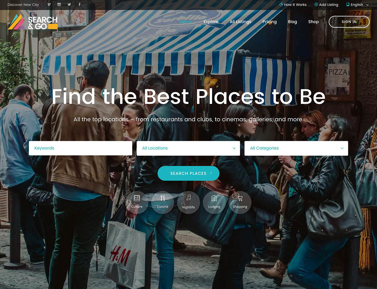 Search-Go - 46+ Stunning WordPress Directory Themes [year]
