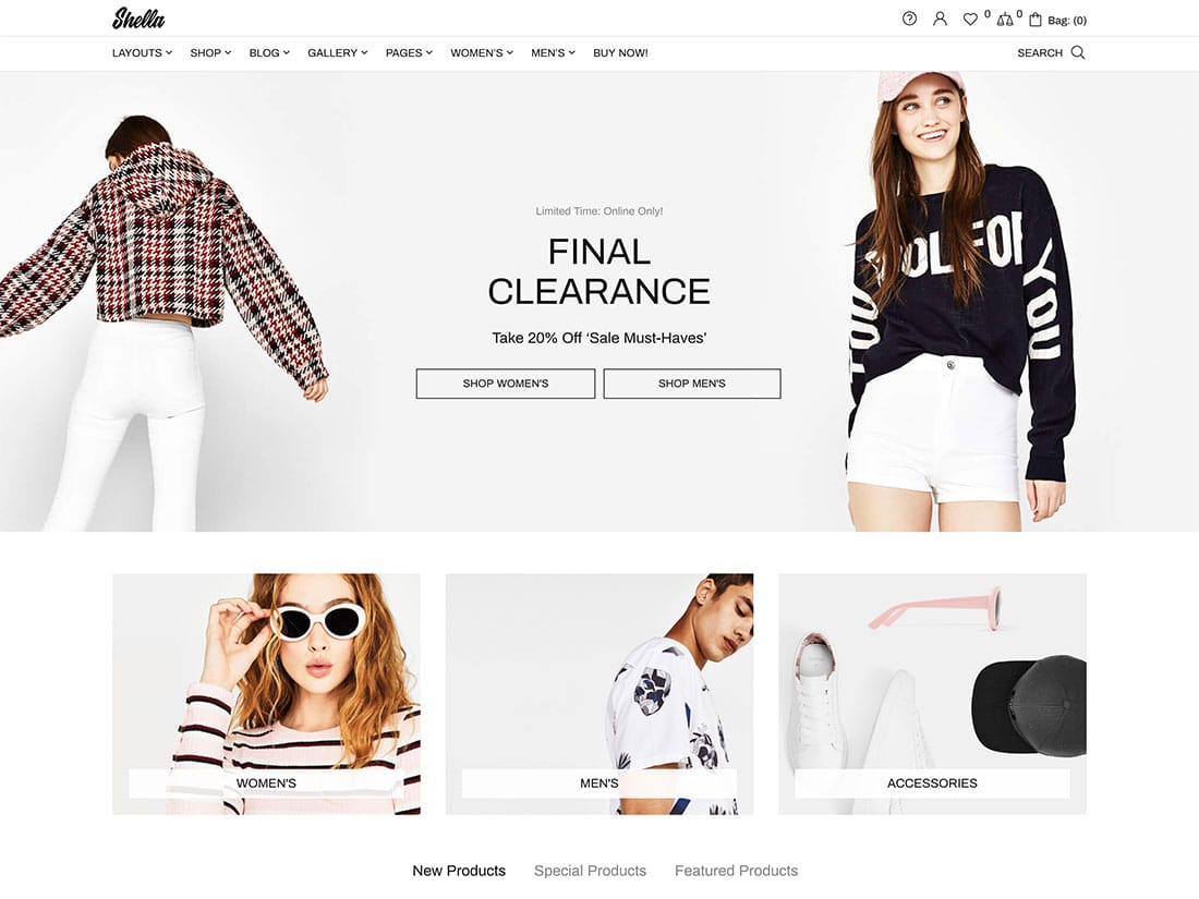 Shella - 41+ Top WordPress Themes For Woocommerce [year]