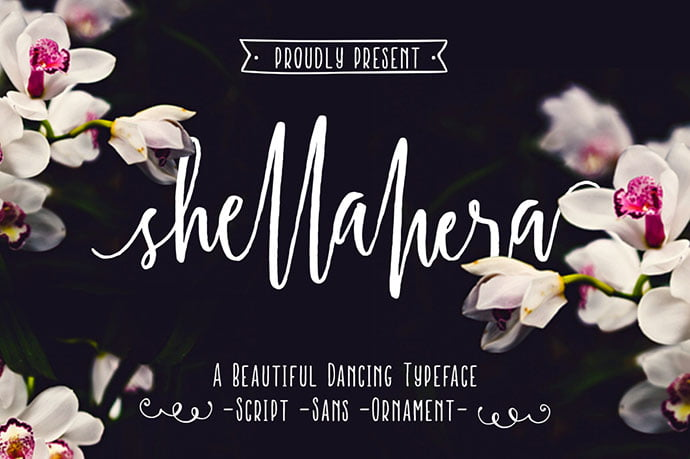 ShellaHera - 51+ Free Fonts For Calligraphy & Hand Lettering [year]