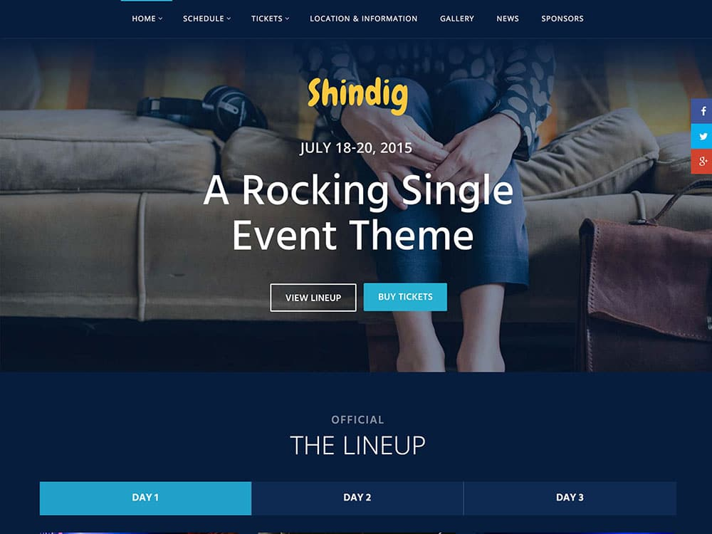 Shindig - 40+ Amazing WordPress Themes For Events [year]