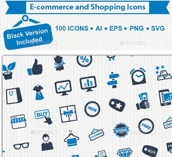 Shopping-and-E - 35+ Awesome Free E-Commerce Icon Sets [year]