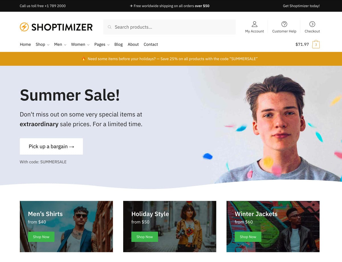 Shoptimizer - 41+ Top WordPress Themes For Woocommerce [year]