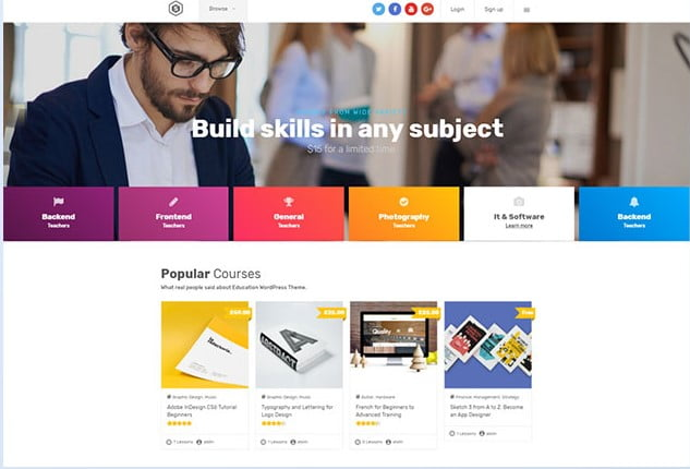 Skilled - 36+ Awesome WordPress Themes e-Learning [year]