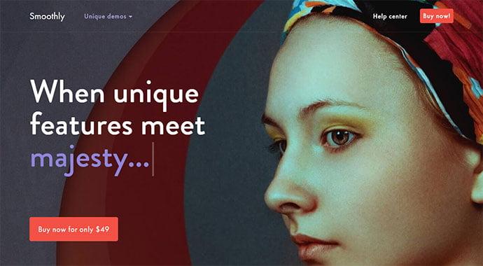 Smoothly - 31+ Amazing Big Fonts Responsive WordPress Themes [year]