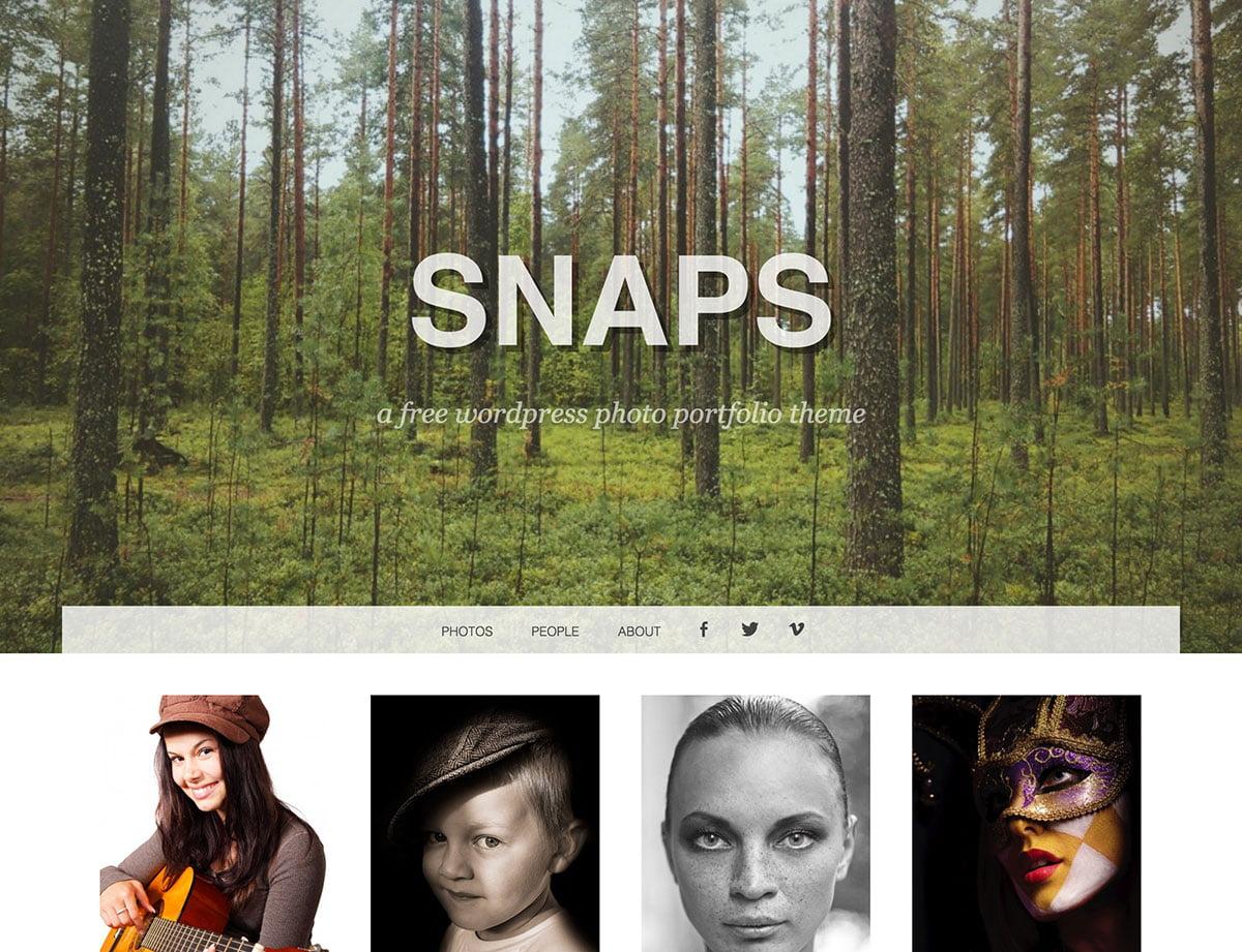 Snaps-1 - 46+ Nice Free WordPress Portfolio Themes [year]