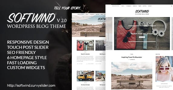 SoftWind - 36+ Responsive WordPress SEO Friendly Themes [year]