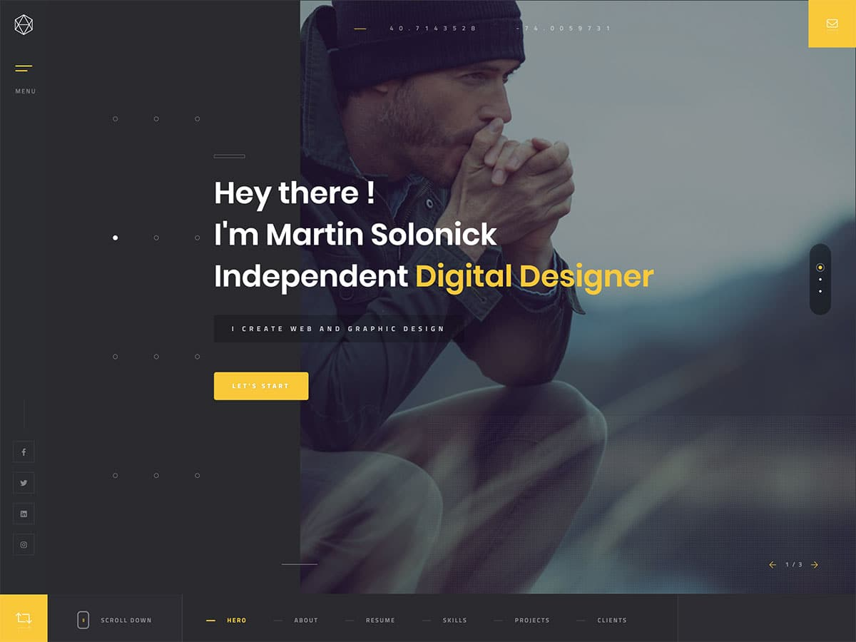 Solonick - 31+ Nice WordPress Themes For Resume [year]